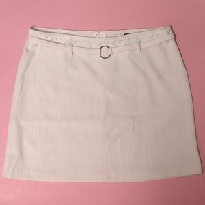 Pale pink pencil skirt with built in belt and hoop